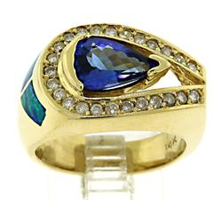 Tanzanite & Diamond Ring in 14KT Gold