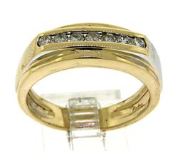Gent's 14kt Gold Diamond Band