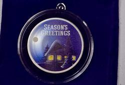 Seasons Greetings Fine Silver 1oz Round/Ornament