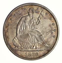 1870-CC Seated Liberty Half Dollar - Circulated