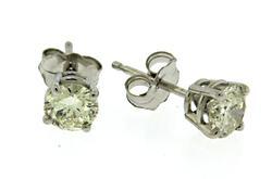 0.71ctw Diamond White Gold Earrings