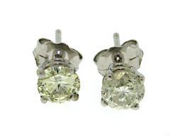 White Gold 14kt Diamond Earrings