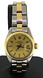 Rolex 36mm DateJust Two Tone Ladies Watch