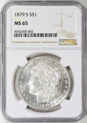 1879-S MS65 Gem Morgan Silver Dollar