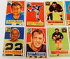 8 Topps 1956 Football Cards