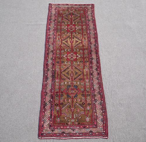 Fascinating Semi Antique Abrash Persian Malayer 3.4x9.8