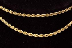 Glittering 22in Gold Rope Chain