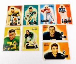 8 Bowman 1955 Football Cards