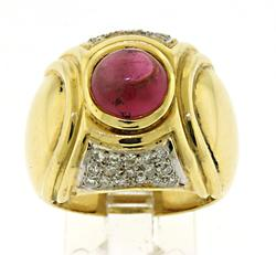 Gorgeous Ruby and Diamond 18kt Ring