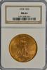 Virtual Gem BU 1924 St. Gaudens $20 Gold. NGC MS64