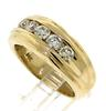 Handsome 14kt Gold and Diamond Gent's Band