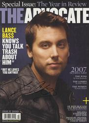 Lance Bass Autographed NSYNC Gay Rights Activisit The A