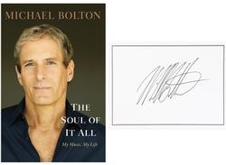 Michael Bolton Autographed Signed The Soul of It All HC