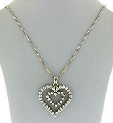 Romantic 18kt Diamond Double Heart Necklace