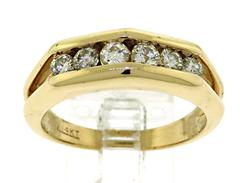 Magnificent 14kt Men's Diamond Band