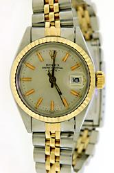 Rolex Datejust 14kt Gold and Steel Ladies Watch