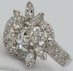 Gorgeous Platinum 1.75+ CTW Diamond Ring