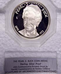 Pearl S. Buck Sterling Proof Medal