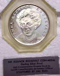 Elenor Roosevelt Sterling Proof Medal