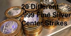20 .999 Fine Silver Center - Casino Token $10.00