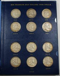 1948-63 Franklin Silver Half Dollar Set - Nice Album