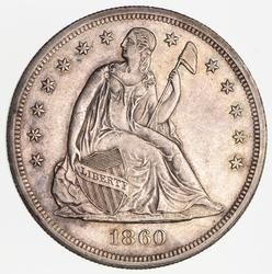 1860-O Seated Liberty Silver Dollar - Near Uncirculated