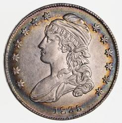 1835 Capped Bust Half Dollar - Rainbow Toned