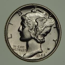 1942 Mercury Dime - Proof - Circulated