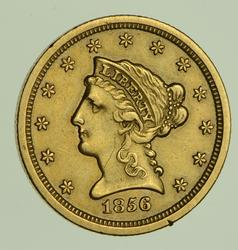 1856-S $2.50 Liberty Head Gold Quarter Eagle - Circulated