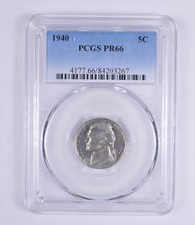 PR66 1940 Jefferson Nickel - PCGS Graded