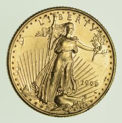 1999-W $10.00 1/4 Oz Fine Gold Coin Error - Circulated