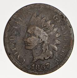 1867 Indian Head Cent - Circulated