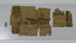 1862 $1.00 Merchant Bank of Baltimore Large Size Horseblanket Note