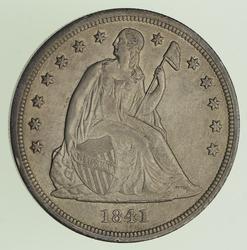 1841 Seated Liberty Silver Dollar - Circulated