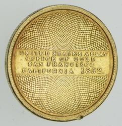 1852 $10.00 United States Assay Office Gold - Circulated