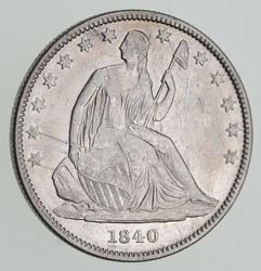 1840-O Seated Liberty Silver Half Dollar - Sharp