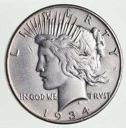 1934-S Peace Silver Dollar - Sharp