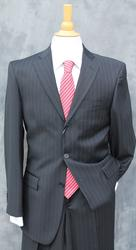 A Clearance 3-button Black Stripe Italian Made Suit