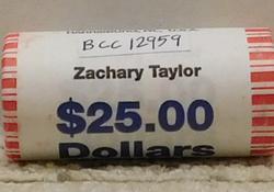 2009 Zachary Taylor Presidential Dollar Roll (25)