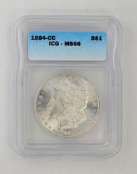MS66 1884-CC Morgan Silver Dollar - ICG Graded