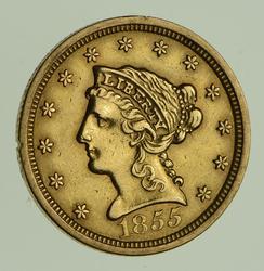 1855 $2.50 Liberty Head Gold Quarter Eagle - Circulated