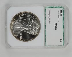 MS70 1989 American Silver Eagle - PCI Graded