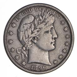 1896-S Barber Head Silver Half Dollar - Sharp