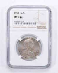 MS65+ 1961 Franklin Half Dollar - Toned - Graded by NGC