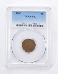 F12 1866 Indian Head Cent - Graded by PCGS