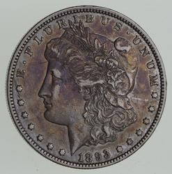 1893-O Morgan Silver Dollar - Sharp