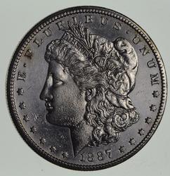 1887-S Morgan Silver Dollar - Near Uncirculated