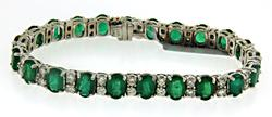 Breathtaking 14kt Emerald & Diamond Bracelet