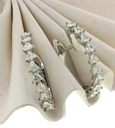Brilliant 18kt Diamond Hoops