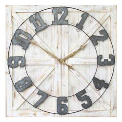 Stratton Home Decorative Rustic Farmhouse Wall Clock